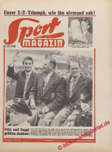 Sportmagazin Nr. 27B, 8.7.1954 bis 14.7.1954