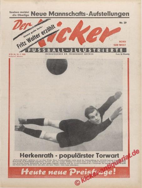 Kicker Nr. 29, 18.7.1955 bis 24.7.1955