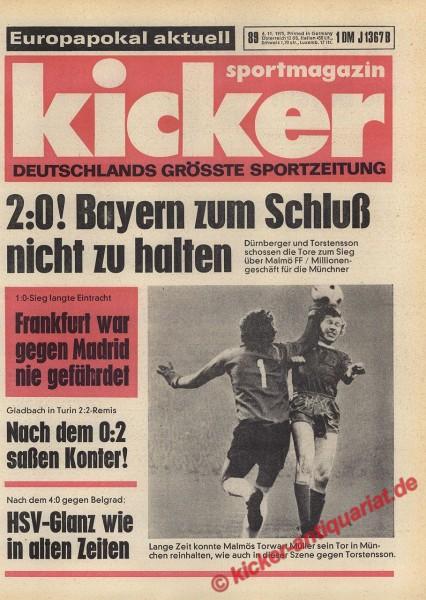 Kicker Sportmagazin Nr. 89, 6.11.1975 bis 12.11.1975