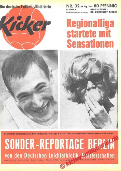 Kicker Nr. 32, 10.8.1964 bis 16.8.1964
