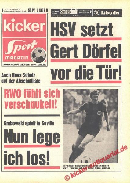 Kicker Sportmagazin Nr. 9, 29.1.1970 bis 4.2.1970