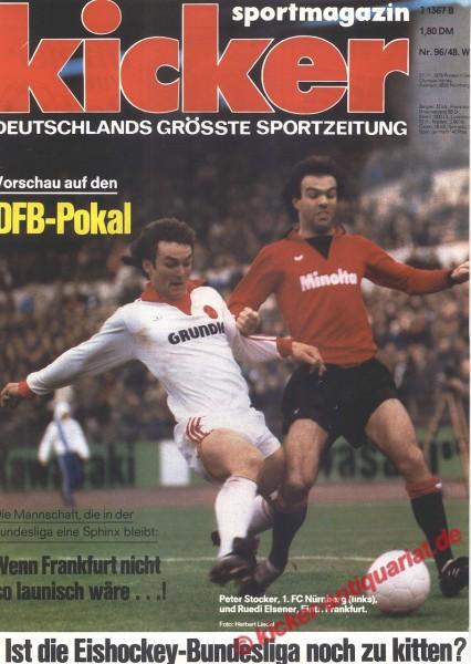 Kicker Sportmagazin Nr. 96, 27.11.1978 bis 3.12.1978