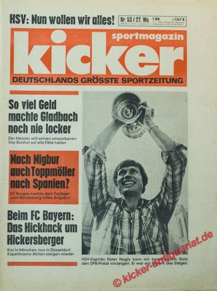 Kicker Sportmagazin Nr. 53, 1.7.1976 bis 7.7.1976