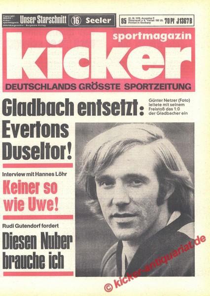Kicker Sportmagazin Nr. 85, 22.10.1970 bis 28.10.1970