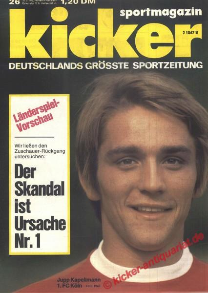 Kicker Sportmagazin Nr. 26, 26.3.1973 bis 1.4.1973
