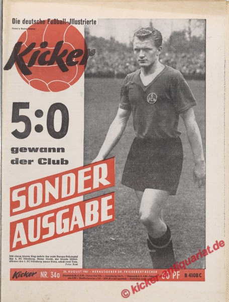 Kicker Nr. 34A, 21.8.1961 bis 27.8.1961