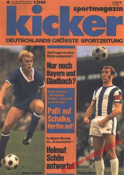 Kicker Sportmagazin Nr. 6, 18.1.1971 bis 24.1.1971