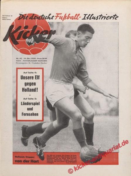 Kicker Nr. 42, 19.10.1959 bis 25.10.1959