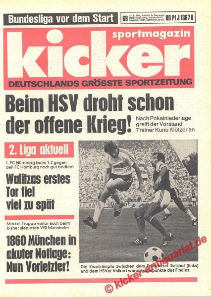 Kicker Sportmagazin Nr. 69, 22.8.1974 bis 28.8.1974