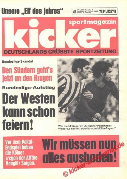 Kicker Sportmagazin Nr. 49, 17.6.1971 bis 23.6.1971