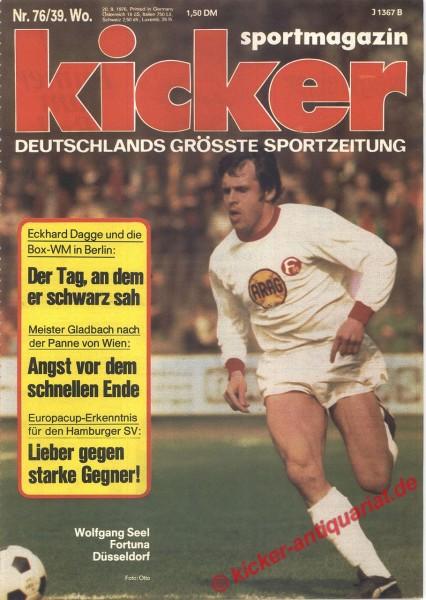 Kicker Sportmagazin Nr. 76, 20.9.1976 bis 26.9.1976