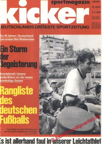 Kicker Sportmagazin Nr. 54, 2.7.1979 bis 8.7.1979