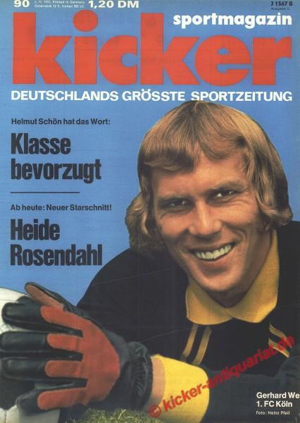 Kicker Sportmagazin Nr. 90, 6.11.1972 bis 12.11.1972