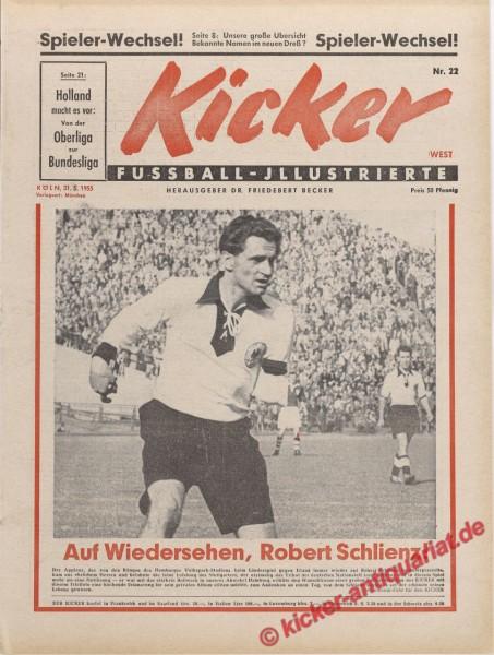 Kicker Nr. 22, 31.5.1955 bis 6.6.1955