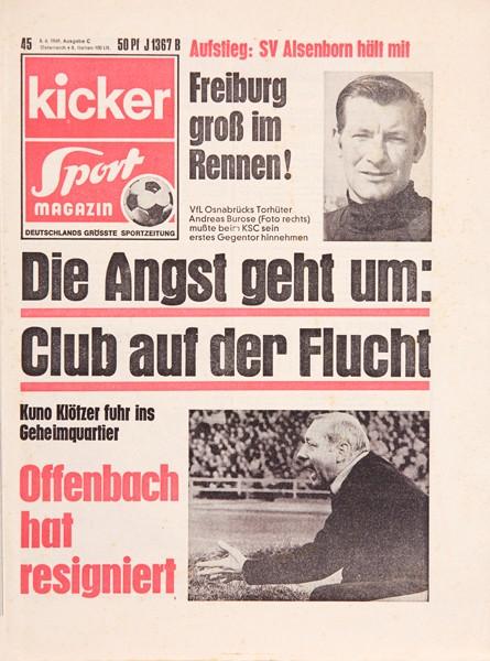 Kicker Sportmagazin Nr. 45, 5.6.1969 bis 11.6.1969