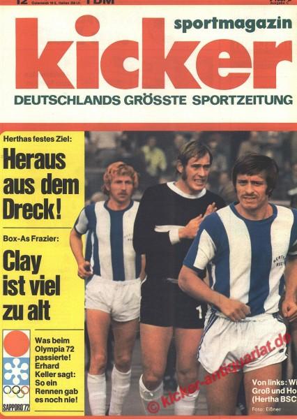 Kicker Sportmagazin Nr. 12, 7.2.1972 bis 13.2.1972