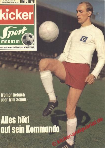 Kicker Sportmagazin Nr. 89, 4.11.1968 bis 10.11.1968