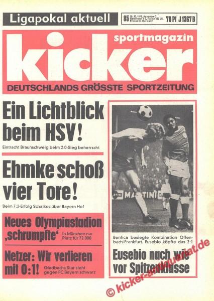 Kicker Sportmagazin Nr. 85, 19.10.1972 bis 25.10.1972