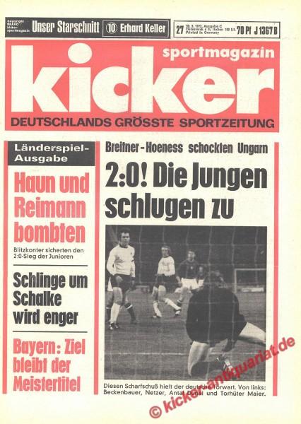 Kicker Sportmagazin Nr. 27, 30.3.1972 bis 5.4.1972