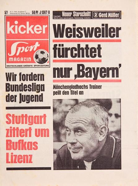 Kicker Sportmagazin Nr. 57, 17.7.1969 bis 23.7.1969