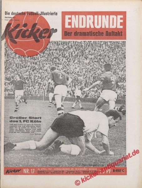 Kicker Nr. 17, 24.4.1962 bis 30.4.1962