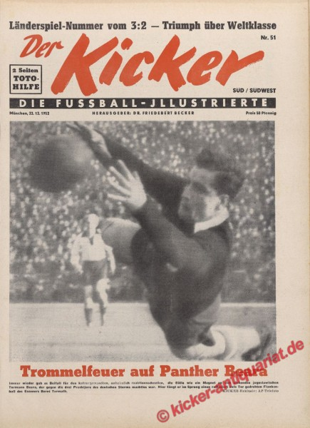 Kicker Nr. 51, 22.12.1952 bis 28.12.1952
