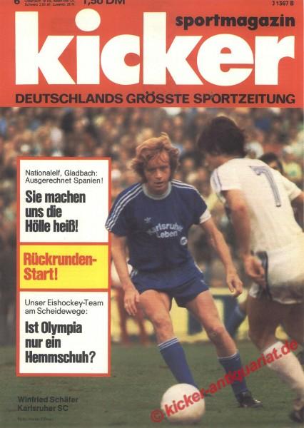 Kicker Sportmagazin Nr. 6, 19.1.1976 bis 25.1.1976
