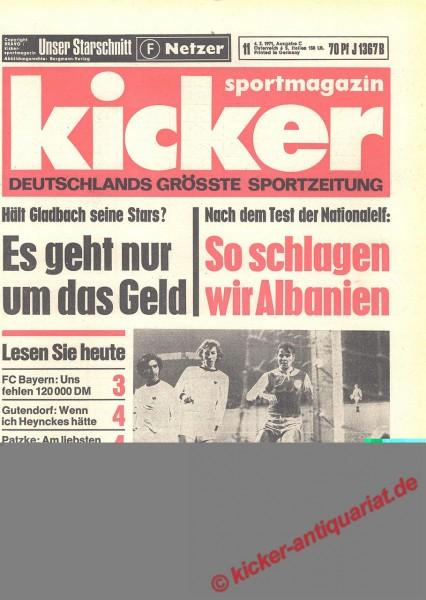 Kicker Sportmagazin Nr. 11, 4.2.1971 bis 10.2.1971