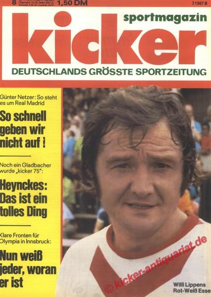 Kicker Sportmagazin Nr. 8, 26.1.1976 bis 1.2.1976