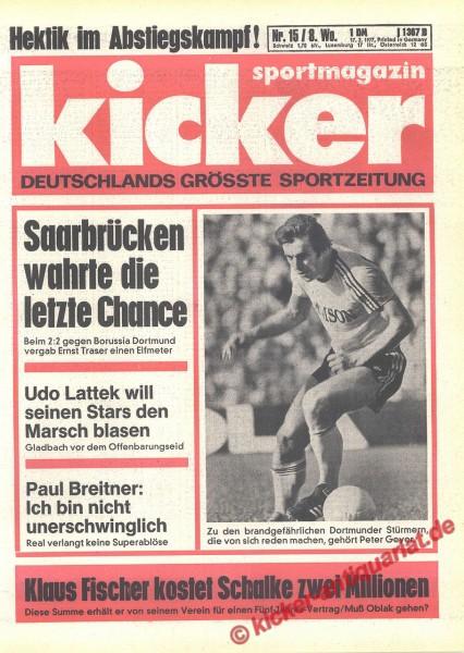 Kicker Sportmagazin Nr. 15, 17.2.1977 bis 23.2.1977