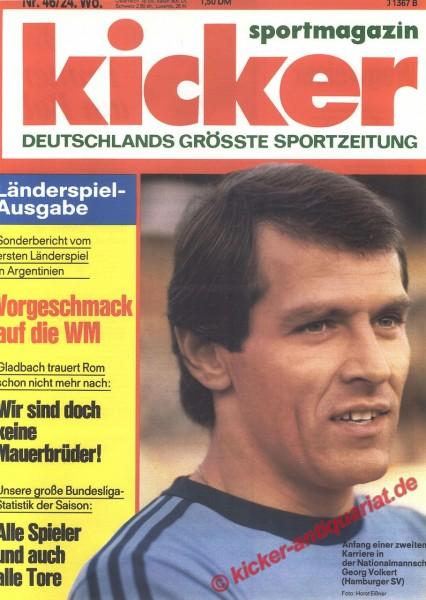 Kicker Sportmagazin Nr. 46, 6.6.1977 bis 12.6.1977
