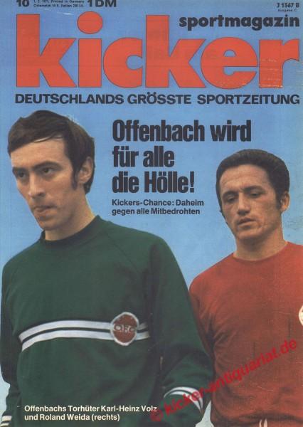 Kicker Sportmagazin Nr. 10, 1.2.1971 bis 7.2.1971