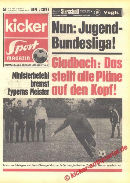 Kicker Sportmagazin Nr. 59, 23.7.1970 bis 29.7.1970