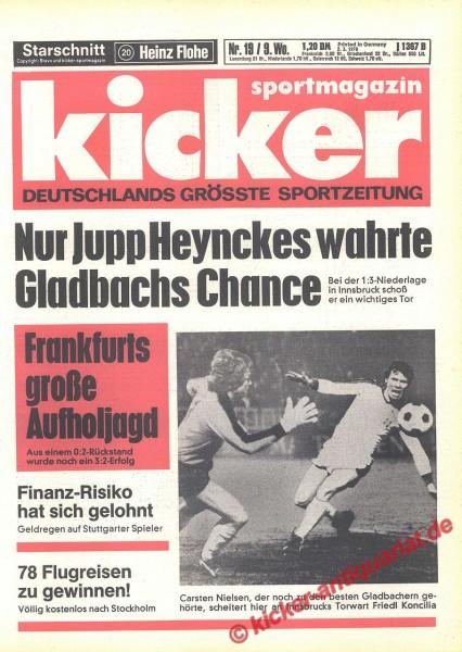 Kicker Sportmagazin Nr. 19, 2.3.1978 bis 8.3.1978
