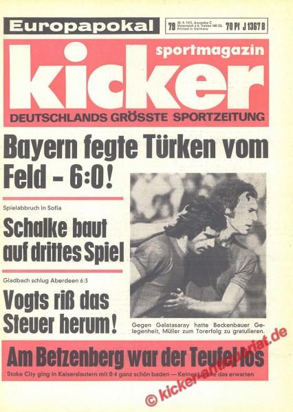 Kicker Sportmagazin Nr. 79, 28.9.1972 bis 4.10.1972