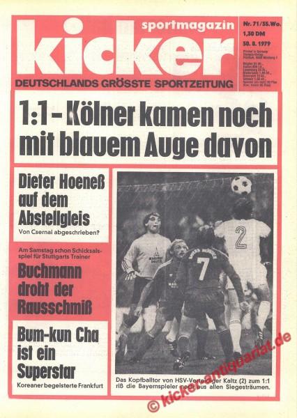 Kicker Sportmagazin Nr. 71, 30.8.1979 bis 5.9.1979