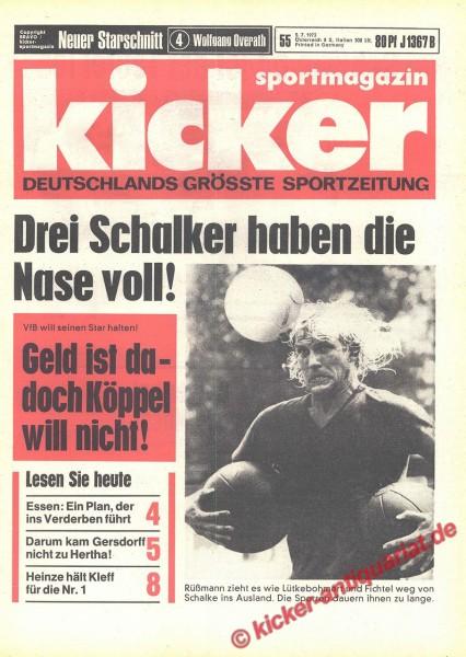 Kicker Sportmagazin Nr. 55, 5.7.1973 bis 11.7.1973