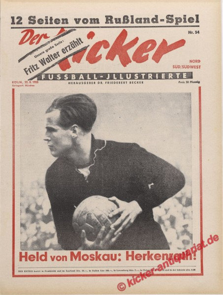 Kicker Nr. 34, 22.8.1955 bis 28.8.1955