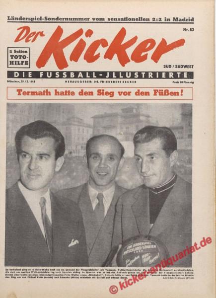 Kicker Nr. 52, 29.12.1952 bis 4.1.1953