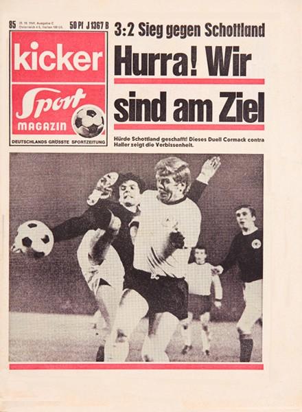 Kicker Sportmagazin Nr. 85, 23.10.1969 bis 29.10.1969