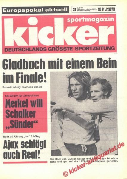 Kicker Sportmagazin Nr. 31, 12.4.1973 bis 18.4.1973