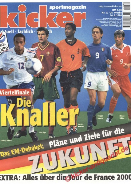 Kicker Sportmagazin Nr. 52, 26.6.2000 bis 2.7.2000