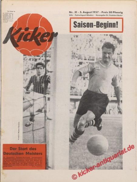 Kicker Nr. 31, 5.8.1957 bis 11.8.1957