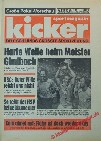 Kicker Sportmagazin Nr. 63, 6.8.1976 bis 12.8.1976