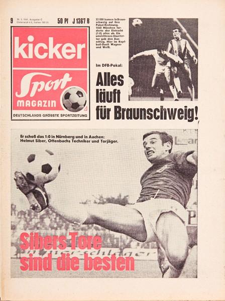 Kicker Sportmagazin Nr. 9, 30.1.1969 bis 5.2.1969