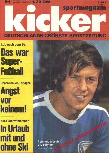 Kicker Sportmagazin Nr. 94, 20.11.1972 bis 26.11.1972