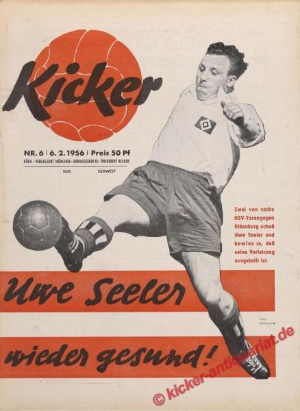 Kicker Nr. 6, 6.2.1956 bis 12.2.1956
