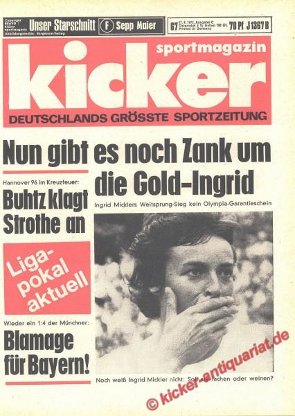 Kicker Sportmagazin Nr. 67, 17.8.1972 bis 23.8.1972