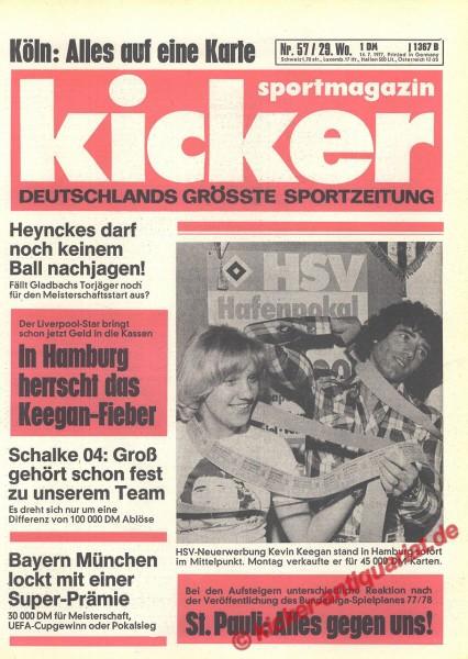 Kicker Sportmagazin Nr. 57, 14.7.1977 bis 20.7.1977