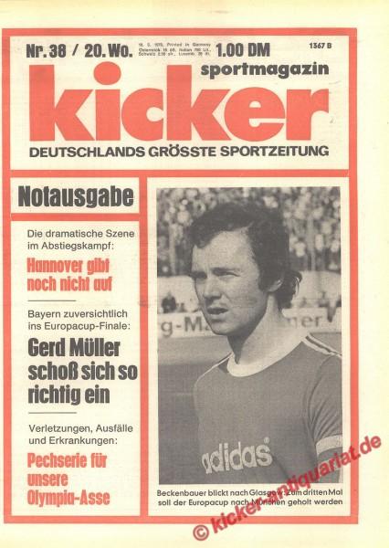 Kicker Sportmagazin Nr. 38, 10.5.1976 bis 16.5.1976